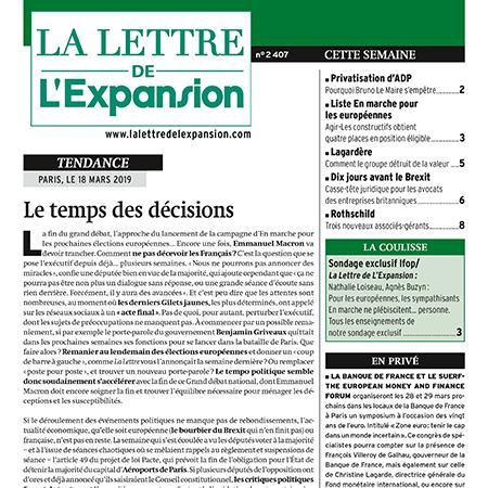 La lettre de L'Expansion
